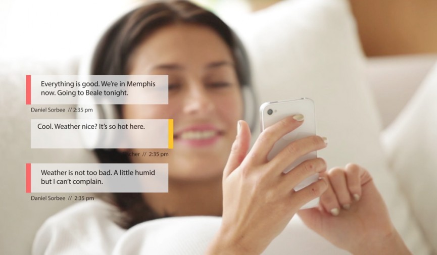 On-screen text message Featured