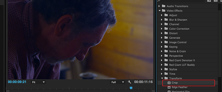 Use Premiere to Make Your Video Look Cinematic in 30 Seconds, Crop Image