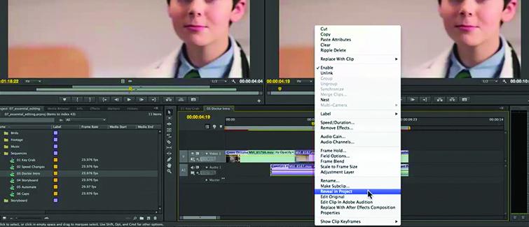 Premiere Replace Edit Step 1