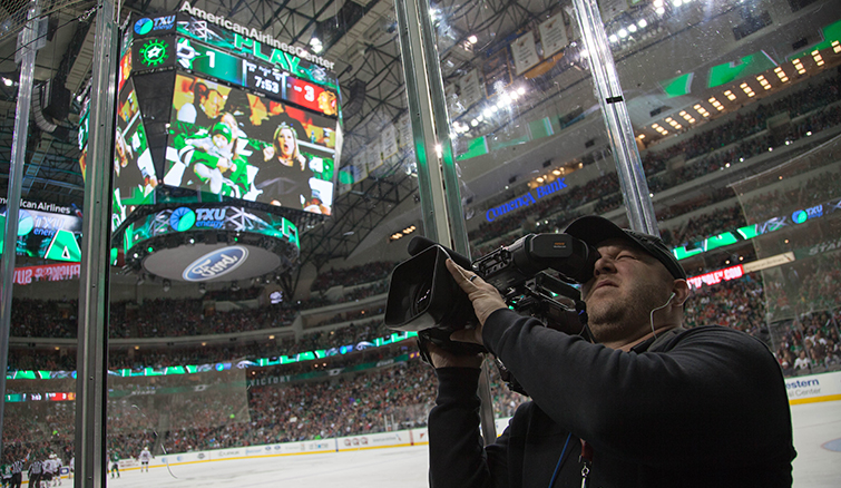 The Media Machine Behind the Dallas Stars: Video Board