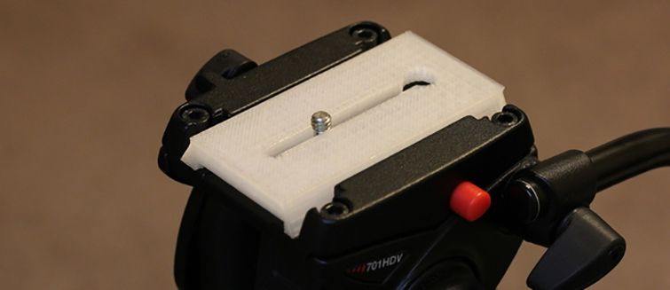 20 Pieces of Film Gear You Can Print With a 3D Printer: Quick Release Plate