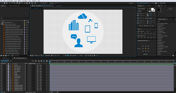 Creating After Effects Assets - Time to animate.