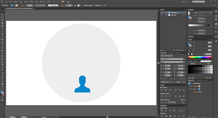Create After Effects Assets - Just a dude and his circle