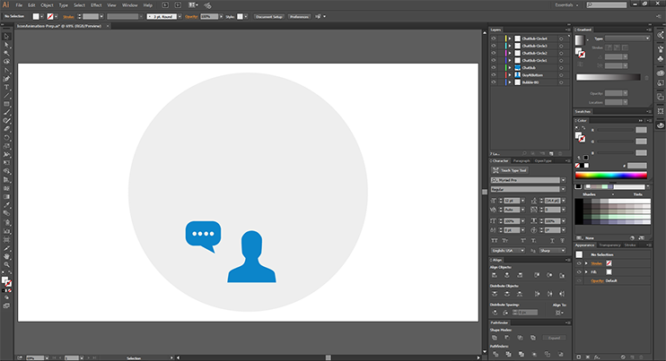Create After Effects Assets - 4 - ChatBubble