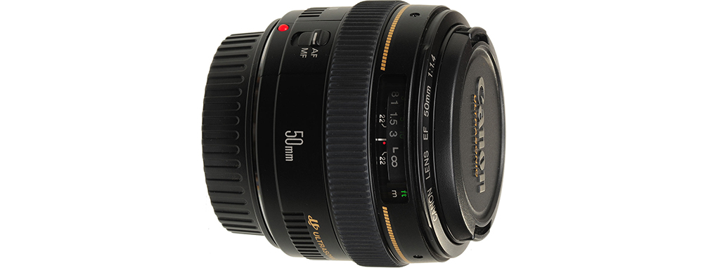 Best EF Lenses for Filmmaking Under $1000 - Canon 50mm 1.4