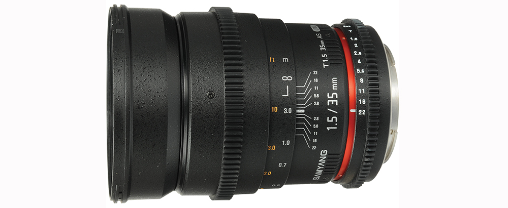Best EF Lenses for Filmmaking Under $1000 - Rokinon 35mm Lens