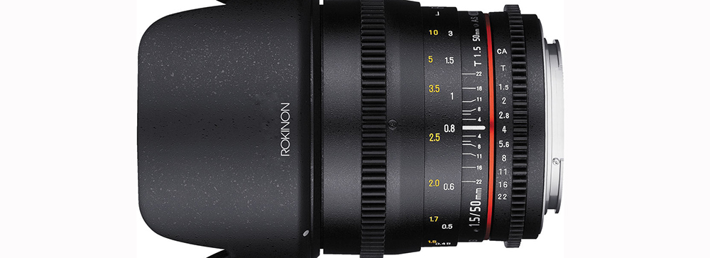 Best EF Lenses for Filmmaking Under $1000 - Rokinon 50mm Lens