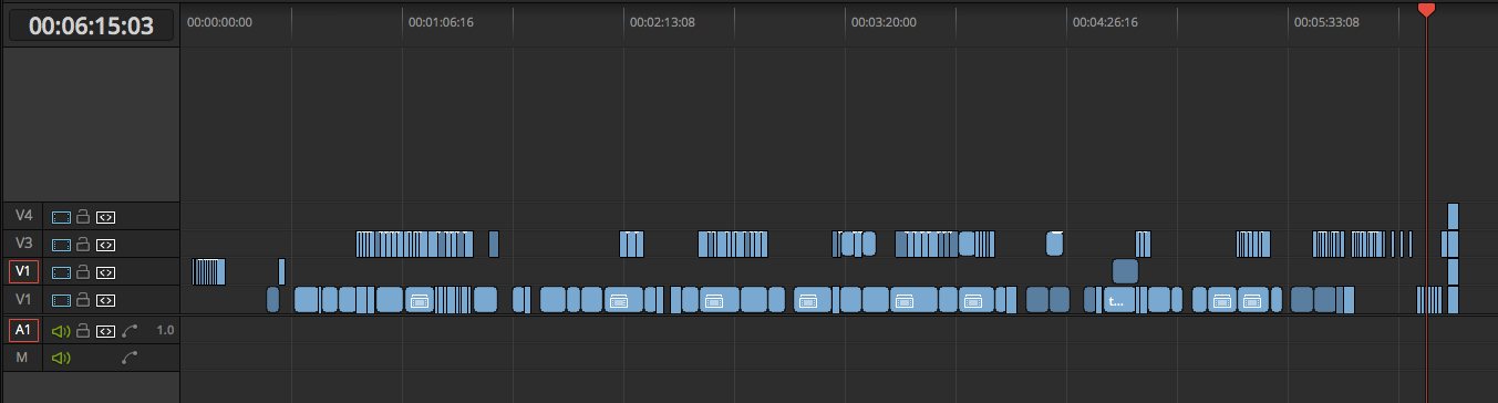 Employ the Usage Tab to Simplify a DaVinci Resolve Project: Imported Timeline