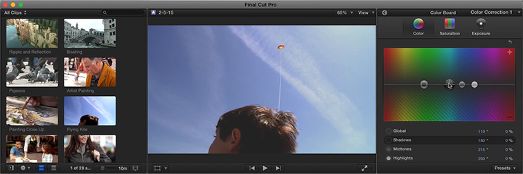 Learn Color Matching and Retro-Cool Color Grading in Final Cut Pro X: Color Settings