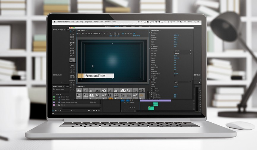 ... design with title templates, a helpful tool in Premiere Pro