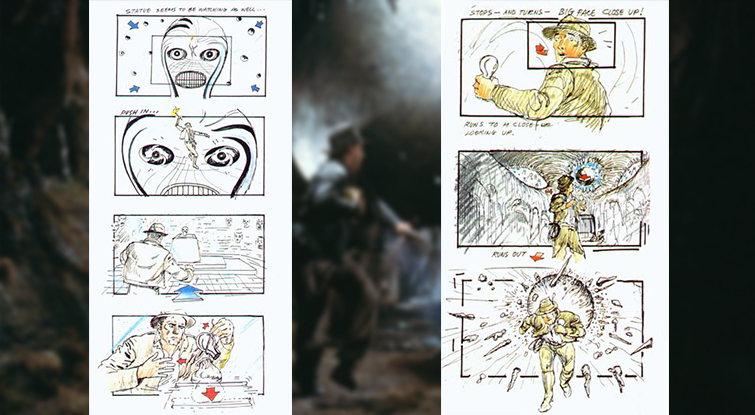 Deconstructing the Scene: Raiders of the Lost Ark - Raiders of the Lost Ark Storyboards