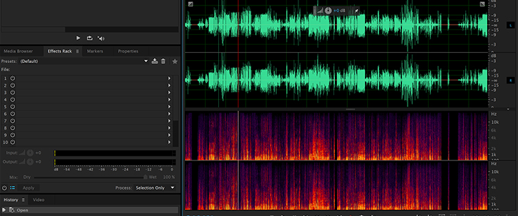 5 Tips for Cleaning Up Audio in Audition: Spectral Frequency Display Divider