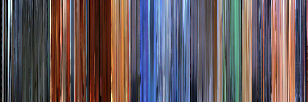 Color Grading Inspiration: Movie Barcodes and Color Palettes: Hero