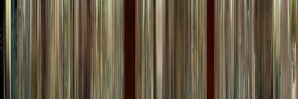 Color Grading Inspiration: Movie Barcodes and Color Palettes: Run Lola Run