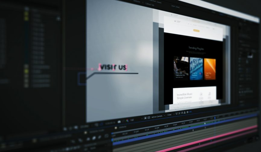 Create An Animated Website Presentation Using After Effects