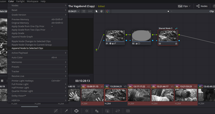 How To Use The Shared Node Feature In DaVinci Resolve 15 — Append Node