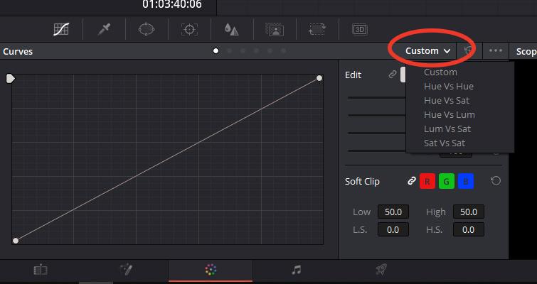 Color Grading: Working with Hue vs. Curves in DaVinci Resolve — Custom Menu