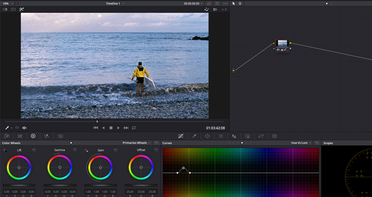 Color Grading: Working with Hue vs. Curves in DaVinci Resolve — Hue vs. Lum