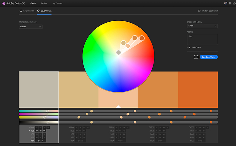 Video Tutorial: How to Create a Color Theme for Adobe Creative Cloud — Adobe Color Website