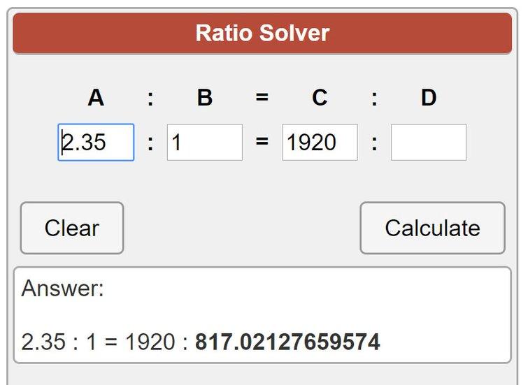 Ratio Calculator