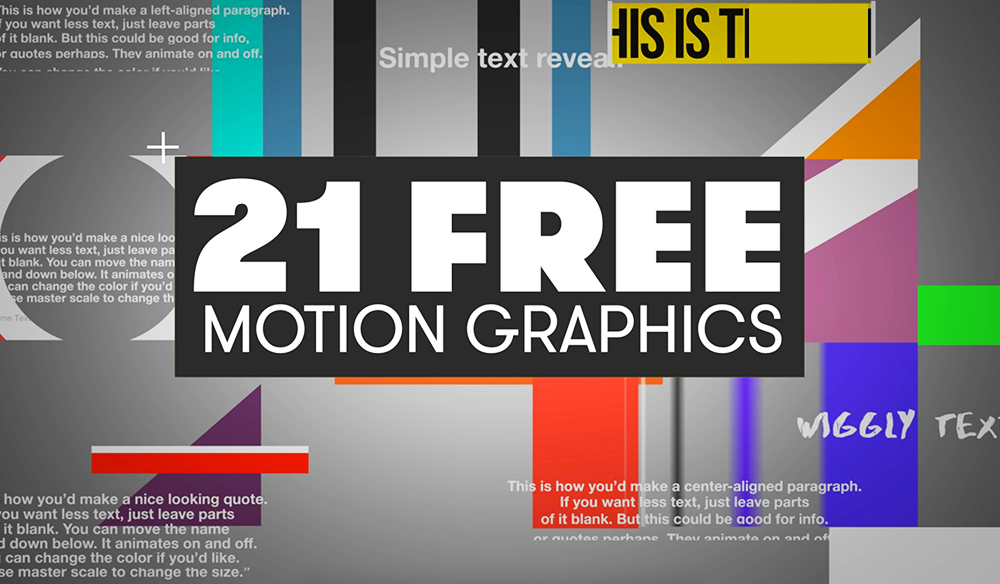 21 Free Motion Graphics Templates for Adobe Premiere Pro