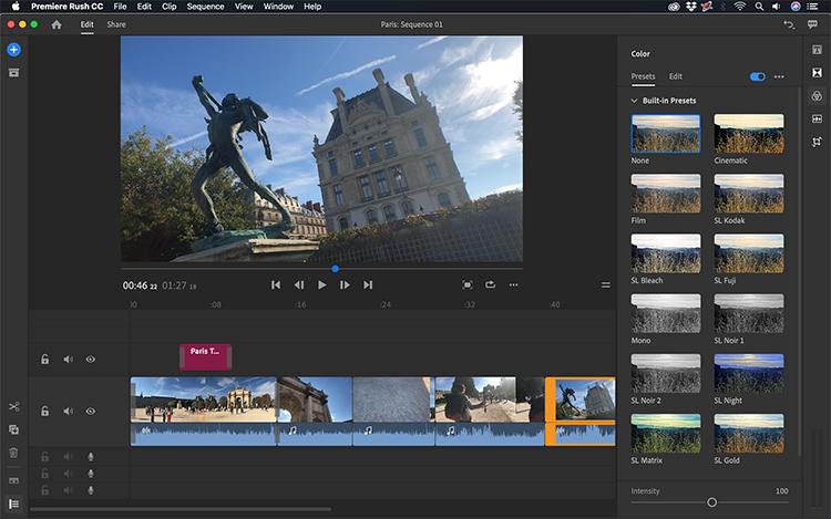 Take a Video Tour of Adobe's New Premiere Rush CC — Fine-Tuning