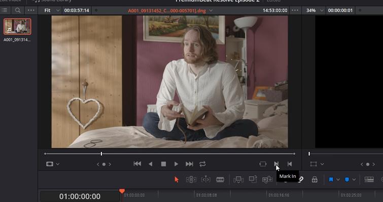 DaVinci Resolve 15 Video Crash Course — The Edit Page — Source Viewer