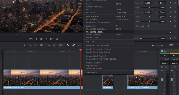 Quick Tip: Creating Stills and Pauses In Resolve 15 — Freeze Frame