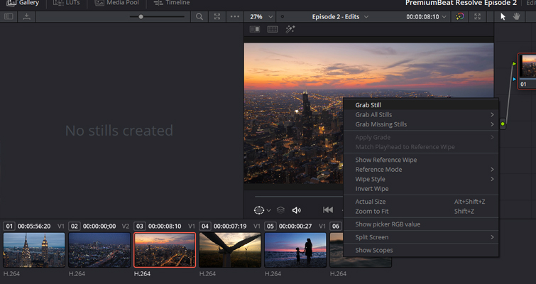 Quick Tip: Creating Stills and Pauses In Resolve 15 — Export Still
