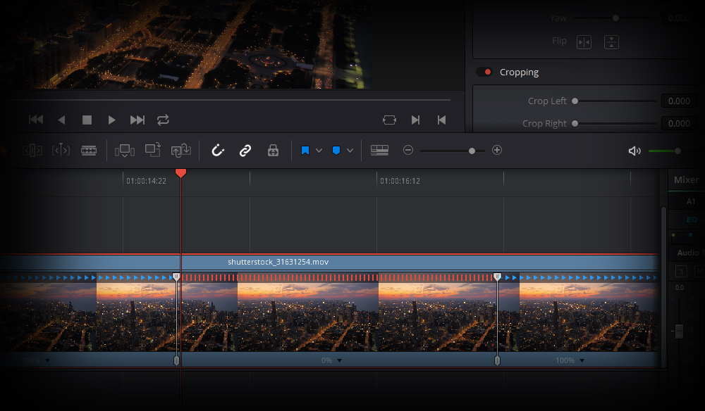 Quick Tip: Creating Stills and Pauses In Resolve 15