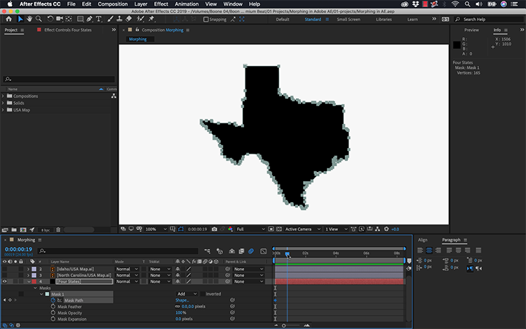 Video Tutorial: How to Morph Graphics Using Adobe After Effects — Mask Paths