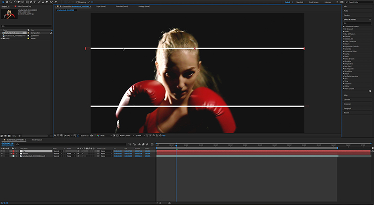 How to Make 3D Split-Depth Videos in Adobe After Effects — Add White Solids