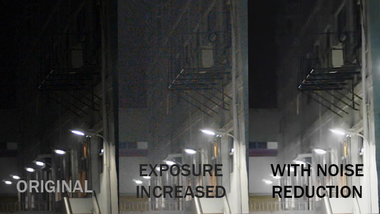 Post-Production Tip: Isolating and Hiding Noise in Your Footage — Before and After