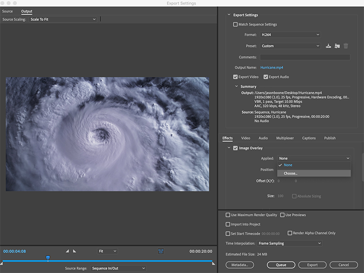 Video Tutorial: How to Add Image Overlays to Premiere Pro Exports — Add Image