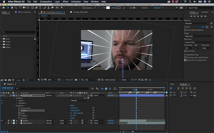 Video Tutorial: How to Create Anime Speed Lines in After Effects — Position Lines