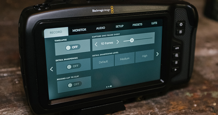 Hands-On Review: The Blackmagic Pocket Cinema Camera 4K — Interface