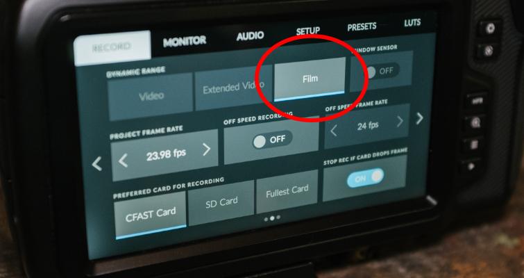 New Filmmaker Tips For Using The Blackmagic Pocket Cinema Camera 4K — Dynamic Range Settings
