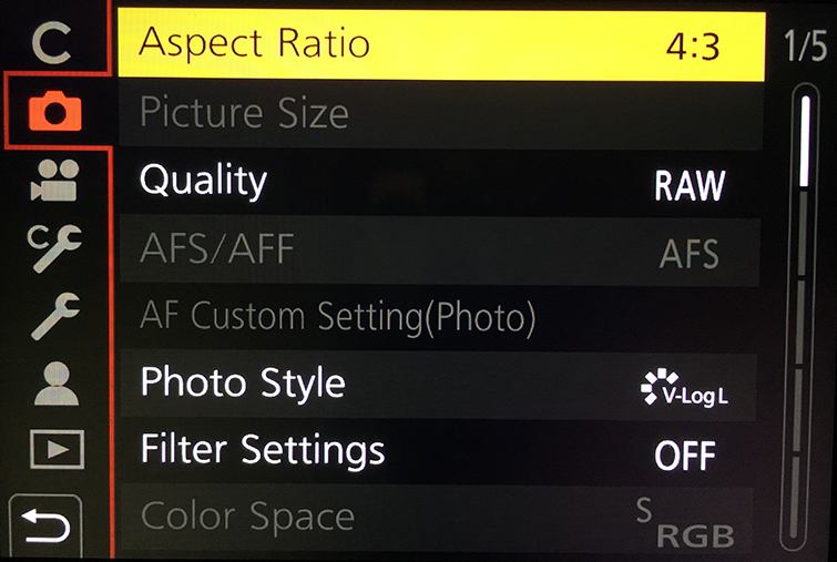 Video Tutorial: Improving Your Time-lapse Workflow for the GH5 — Configure Aspect Ratio, Compression, and Gamma Settings