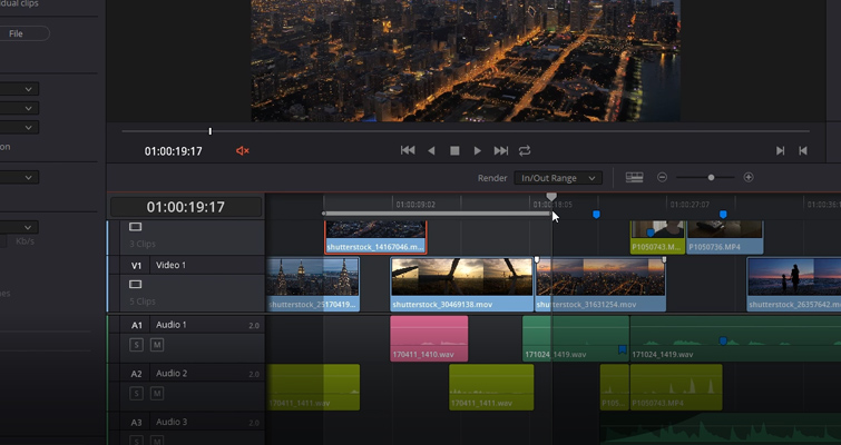 DaVinci Resolve 15 Video Crash Course — Delivering Your Content — Render In and Out Range