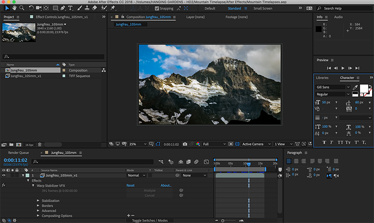 Video Tutorial: Time-lapse Workflow for the GH5 — Part 2 — New After Effects Composition