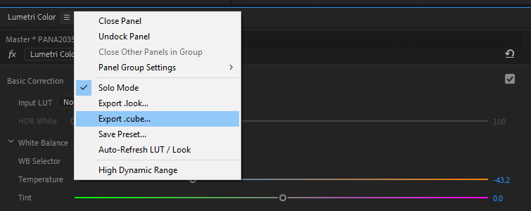 Get Better Results Using LUTs with Lumetri Color in Premiere Pro — Export LUTs