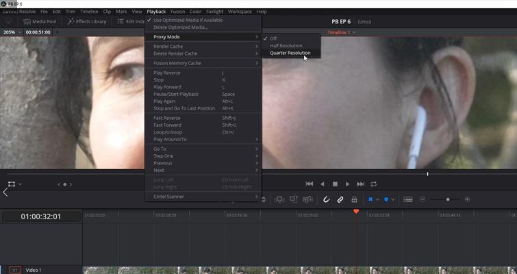 DaVinci Resolve 15 Video Crash Course — Basic Settings — Optimized Media
