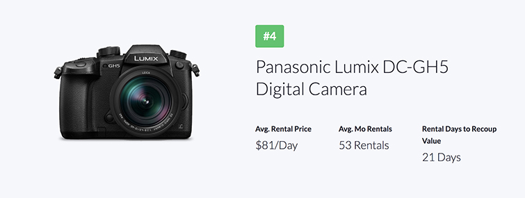 Industry Trends: The Most Popular Gear Rentals of 2018 — Panasonic Lumix DC-GH5