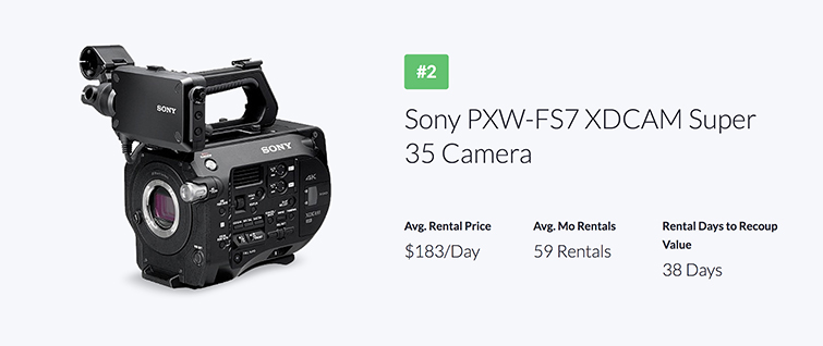 Industry Trends: The Most Popular Gear Rentals of 2018 — Sony PXW-FS7 XDCAM Super 35 Camera
