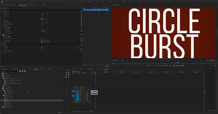 Roundup: 5 Awesome Editing Effects in Adobe Premiere Pro — Noise