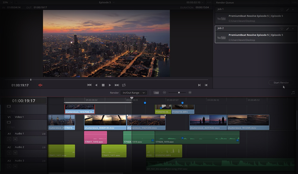 DaVinci Resolve 15 Video Crash Course — Delivering Your Content