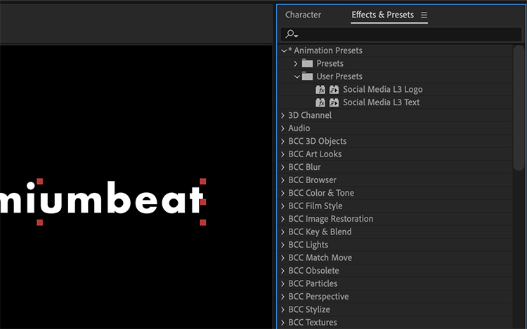 Video Tutorial: Harness the Power of Presets in Adobe After Effects — Save New Presets