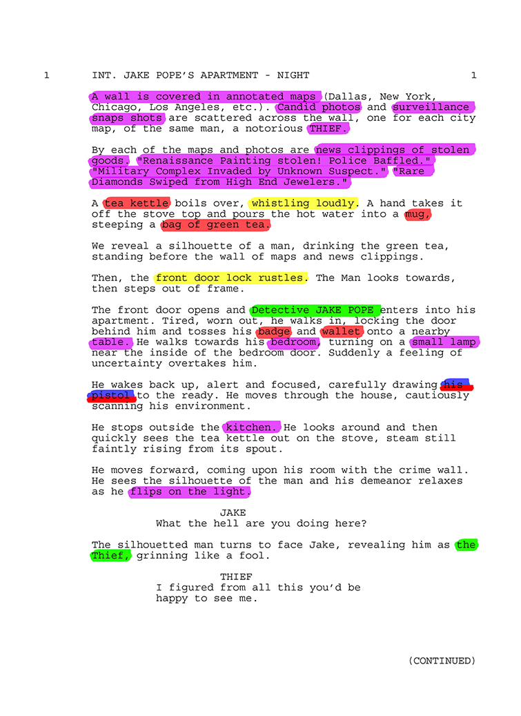 Pre-Production Tips: The Basics of Breaking Down a Script — Breakdown Example