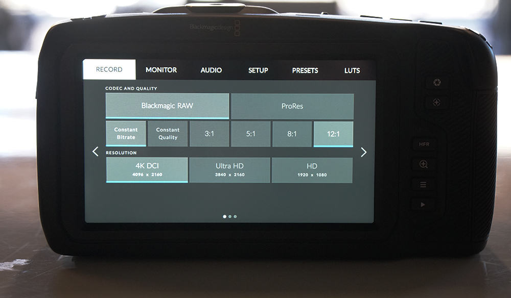 Blackmagic RAW Added to BMPCC4K with Blackmagic Camera Update 6.2