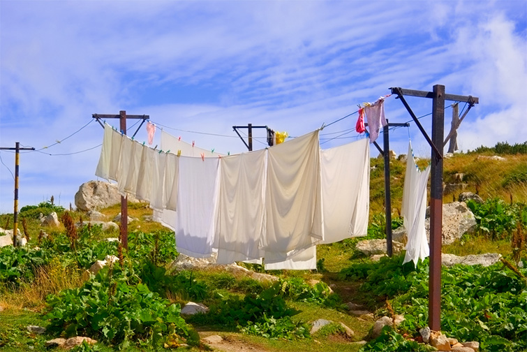 Are Bedsheets a Viable Option for Low-Budget Light Diffusion? — Sheets on a Clothesline
